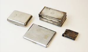 An Edwardian silver mounted Asprey box, of rectangular form with reeded borders and circular
