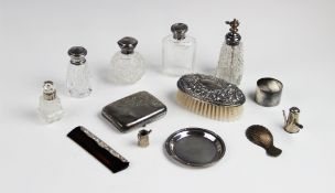 A selection of silver and silver mounted tableware and accessories, to include an Edwardian silver