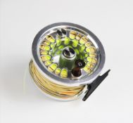 An Abel Super 8 fishing reel, marked ' S6679 Made In USA' to mount, in Abel bag