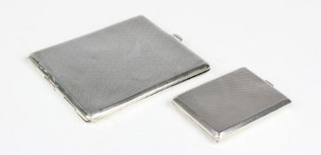An Art Deco silver vesta case by Asprey & Co, London 1938, of rectangular form with canted corners