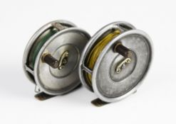 """A Hardy Bros 'The Uniqua' 3 3/8"""" reel and another 'The Uniqua' 3 1/8"""" reel (2)"""
