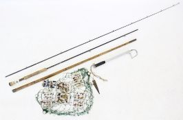 A collection of angling items to include four fly cases, each containing a selection of flies, a