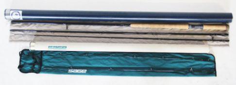 A Thomas & Thomas three piece DH1309-3 13'/#9 line fishing rod, each piece inscribed '116617',