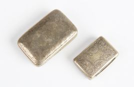 A George III silver vinaigrette by Joseph Wilmore, Birmingham 1811, of rectangular form, the