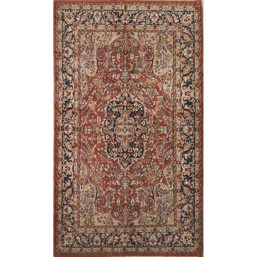 Lot 3 - TAPPETO Agra trama e ordito in cotone, vello in lana. India XX secolo Misure: cm 208 x 128