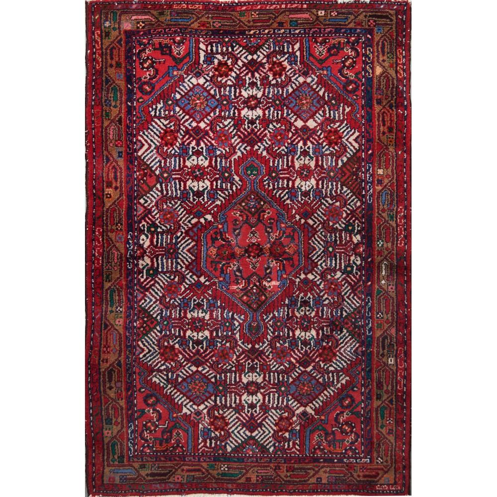 Lot 13 - TAPPETO Hosseinabad, trama e ordito in cotone, vello in lana. Persia XX secolo Misure: cm 151 x 98