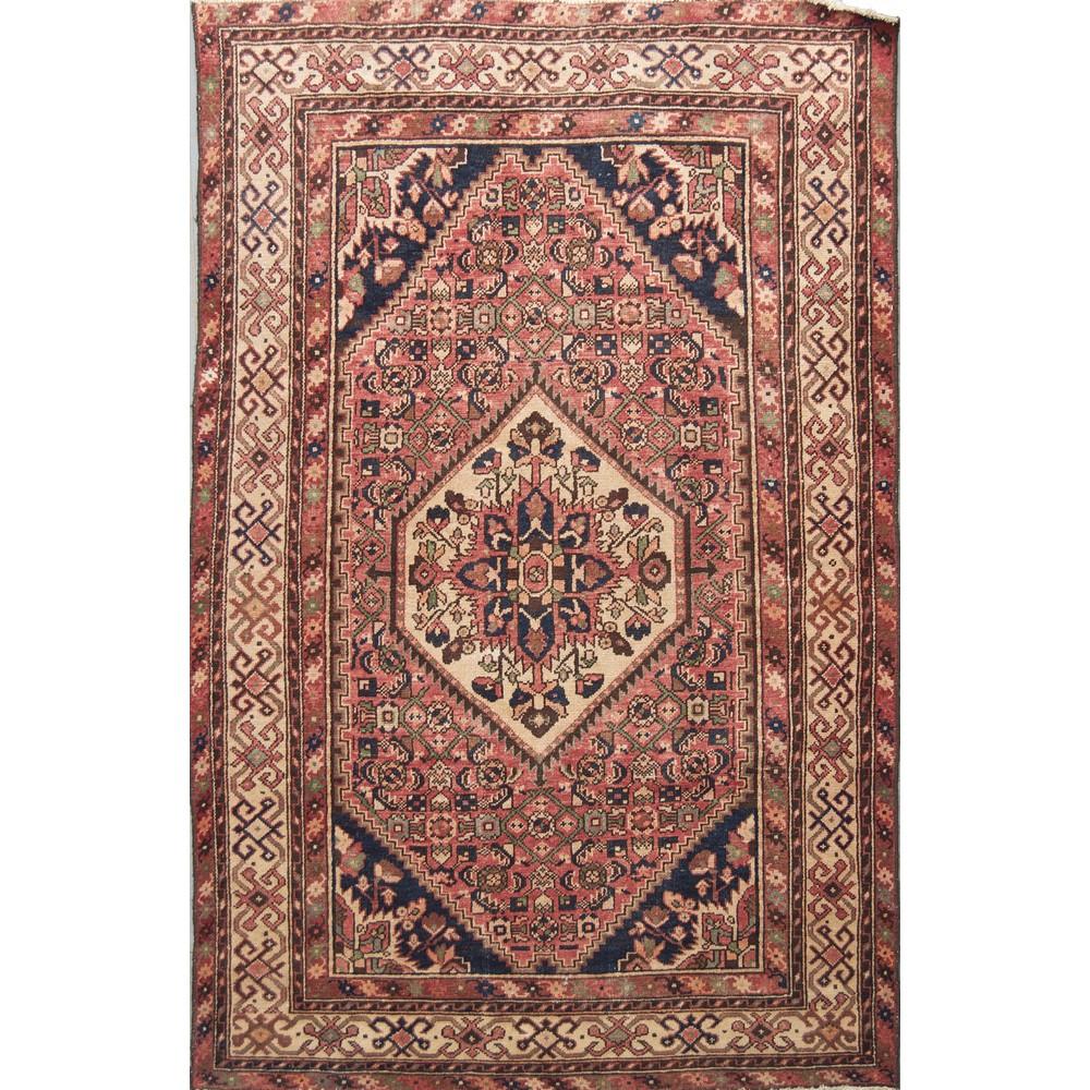 Lot 8 - TAPPETO Hosseinabad, trama e ordito in cotone, vello in lana. Persia XX secolo Misure: cm 206 x 139