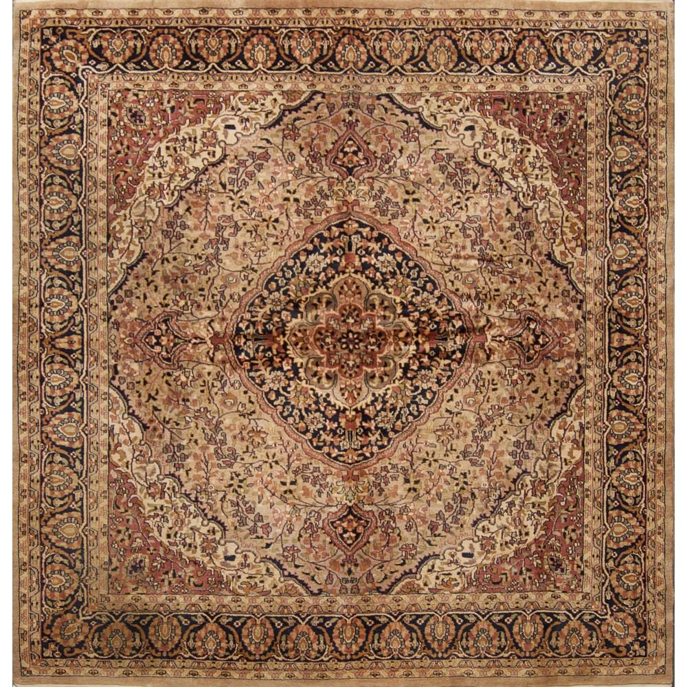 Lot 41 - TAPPETO Agra, trama e ordito in cotone, vello in lana. India XX secolo Misure: cm 212 x 203