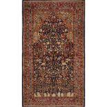 TAPPETO Agra, trama e ordito in cotone, vello in lana. India XX secolo Misure: cm 161 x 93