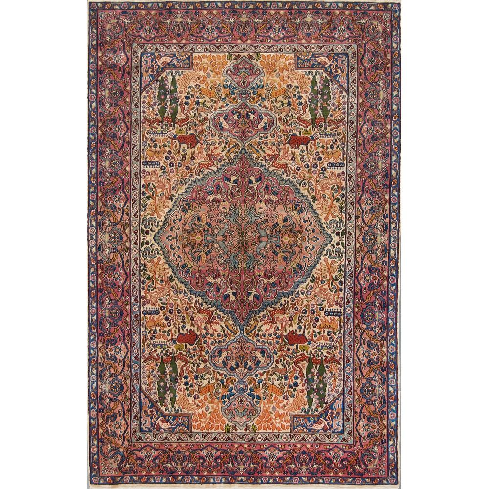 Lot 11 - TAPPETO Srinagar Extra Fine, trama e ordito in cotone, vello in lana e seta. India XX secolo Misure: