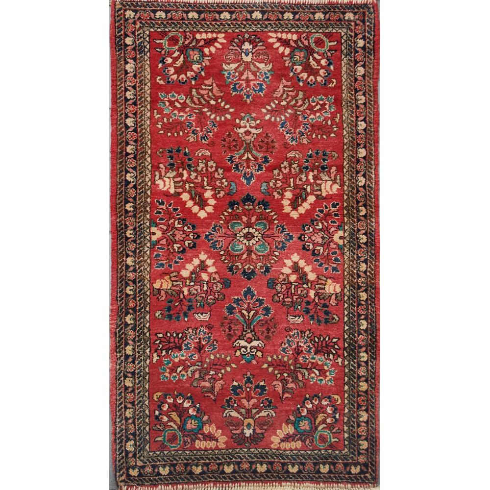 TAPPETO Sarouk, trama e ordito in cotone, vello in lana. Persia XX secolo Misure: cm 119 x 65