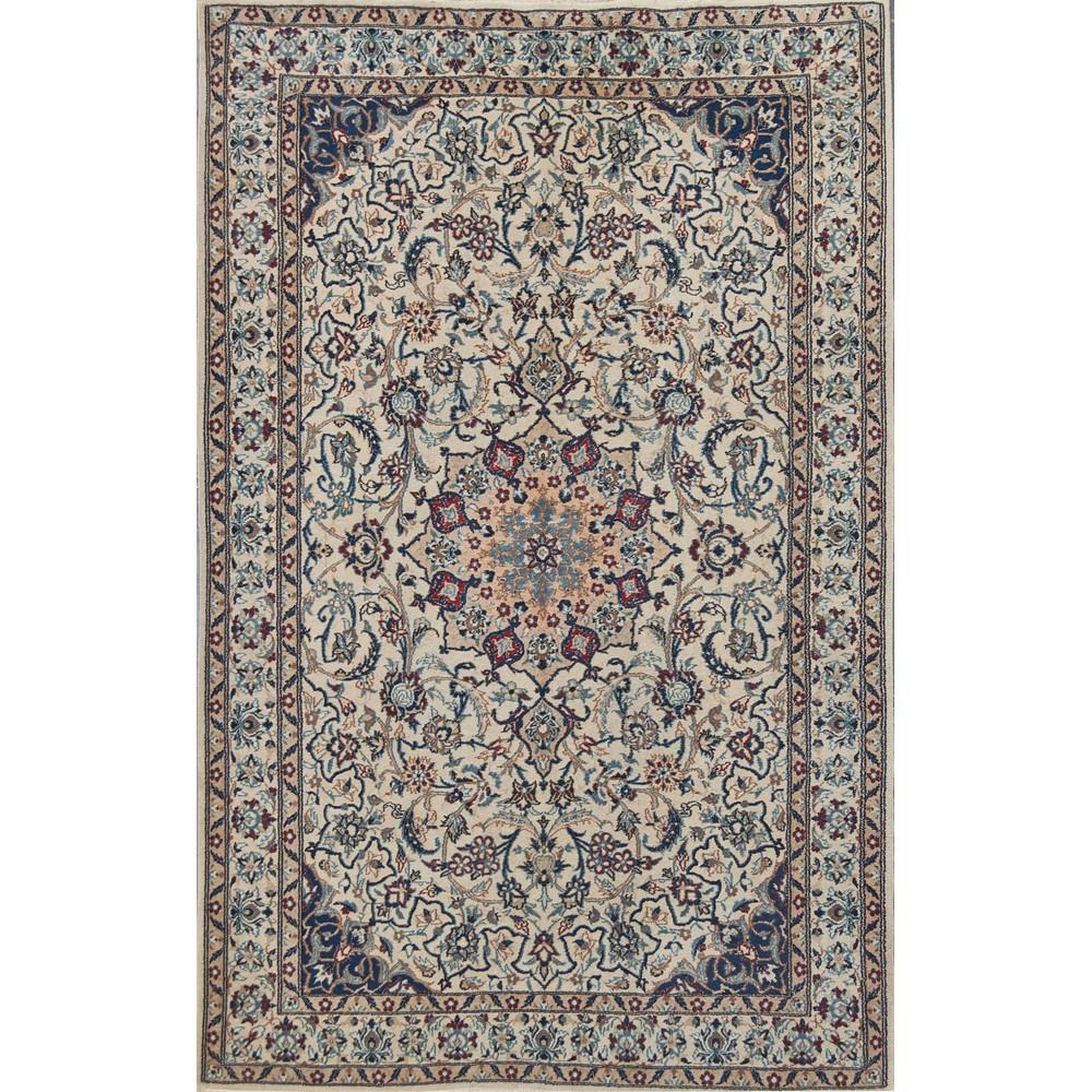 Lot 46 - TAPPETO Nain 9 fili, trama e ordito in cotone, vello in lana. Persia XX secolo Misure: cm 199 x 125