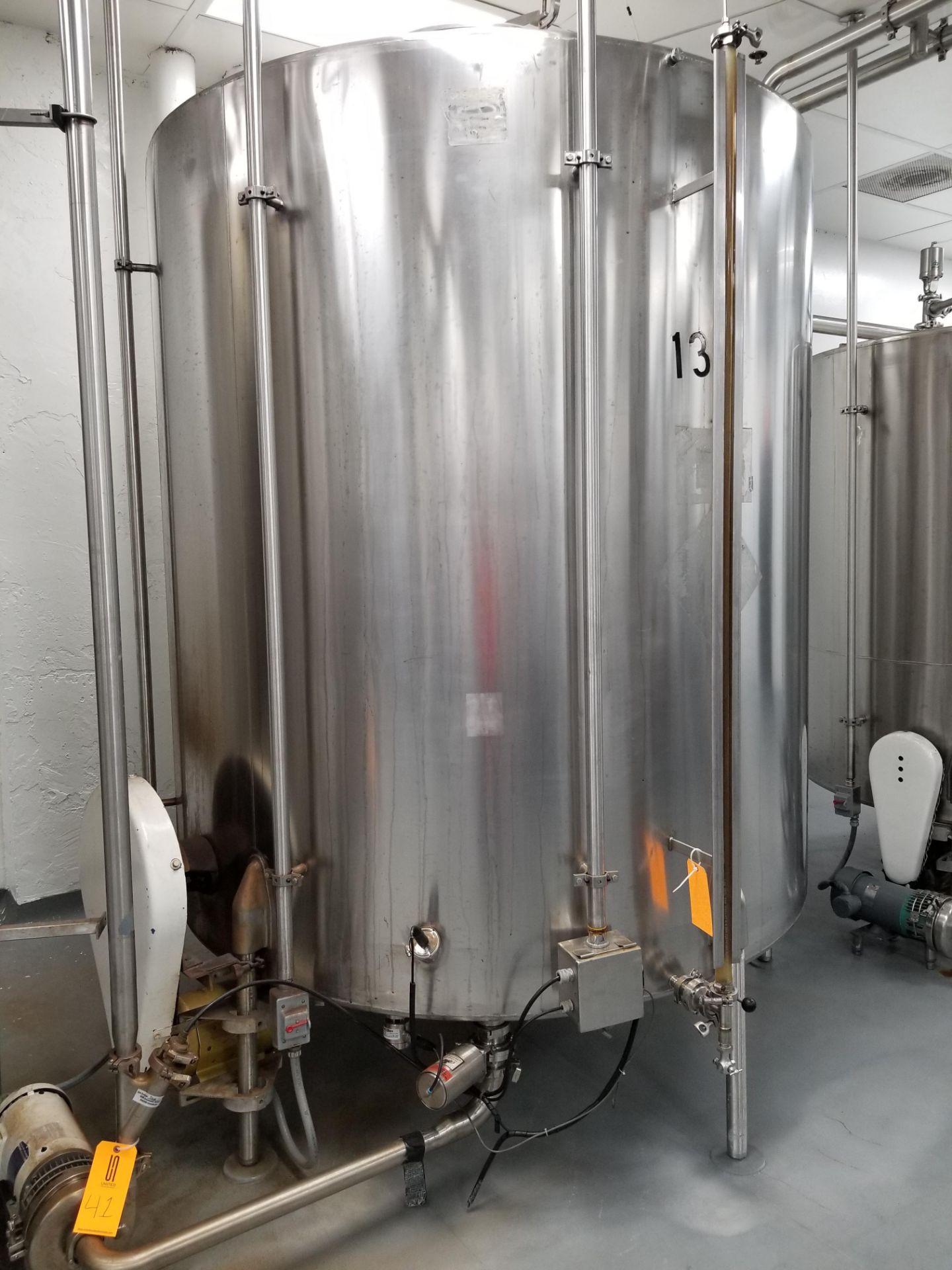 Chem Tank 2,000 Gallon Vertical Mixing Tank - Image 2 of 7