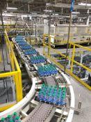 Full Case Conveyor from Lane Diverter to Palletizer