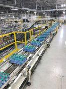Alliance Full Case Conveyor from Spiral to Lane Diverter