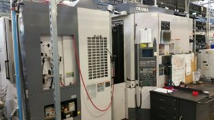 "2004 OKUMA MA400HA CNC 4-AXIS HORIZONTAL MACHINING CENTER, ONLY 1,600 HOURS, X: 22"", Y: 24"", Z: 24"","
