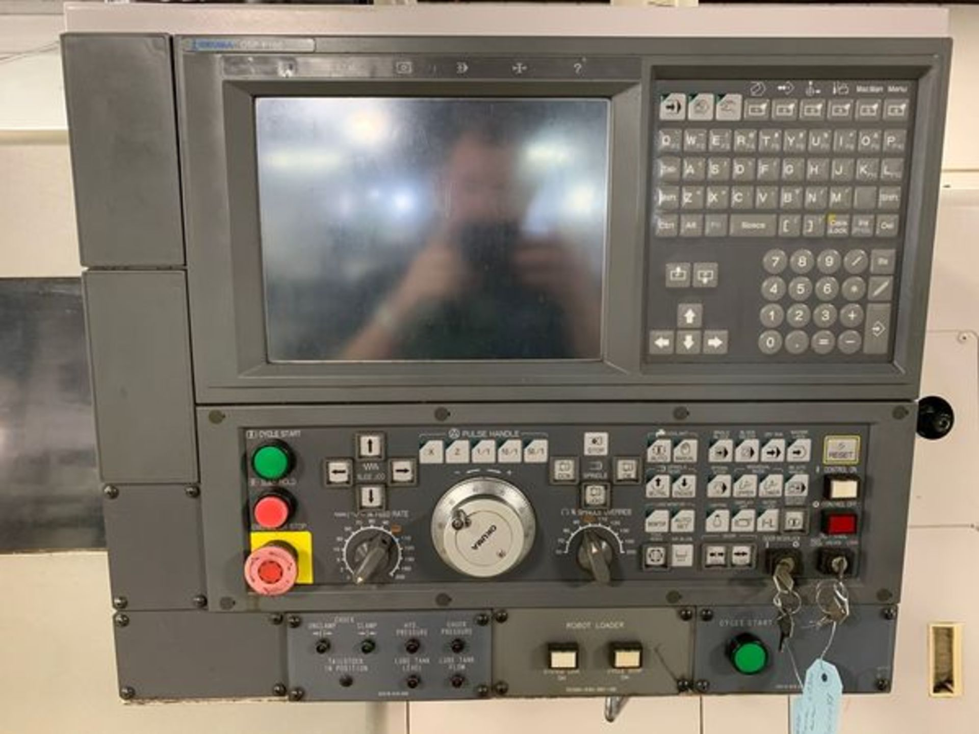 """Lot 3N - 2005 OKUMA SPACE TURN LB300 CNC TURNING CENTER WITH OPS-P100 CONTROL, 20"""" SWING, 19"""" MACHINING LENGT"""