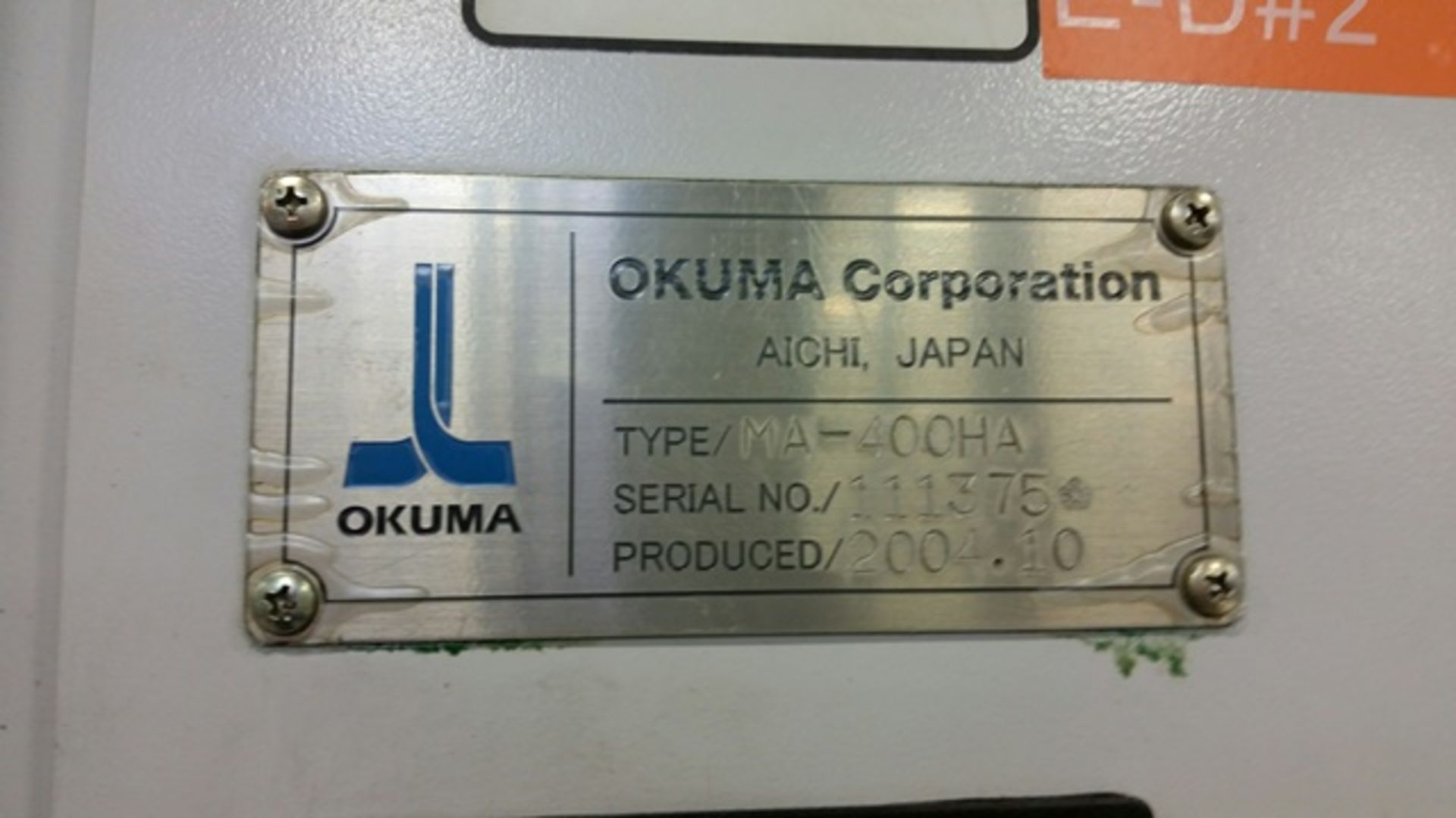 "Lot 3L - 2004 OKUMA MA400HA CNC 4-AXIS HORIZONTAL MACHINING CENTER, ONLY 1,600 HOURS, X: 22"", Y: 24"", Z: 24"","