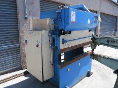 45 TON X 5' ATLANTIC HYDRAULIC PRESS BRAKE (NEEDS WORK), MODEL HDE45-5, TONNAGE INDICATOR, REAR