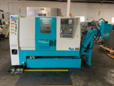 2004 DOOSAN S310N CNC TURNING CENTER WITH TAILSTOCK, TURBO CHIP CONVEYOR & PARTS CATCHER, MACHINE LE