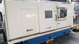"2005 MIYANO BNE-64SY2 CNC MULTI-AXIS TURNING CENTER, 2-TURRETS, Y-AXIS, SUB-SPINDLE, 8"" CHUCK SIZE,"
