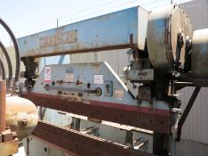 35 TON X 8' WYSONG PRESS BRAKE, FRONT OPERATED MANUAL BACK GAUGE W/ INDICATOR, POWER RAM