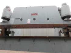 "150 TON X 14' PACIFIC HEAVY DUTY HYDRAULIC PRESS BRAKE W/ HUGE 38"" DEEP THROAT, MODEL K - 150 -"