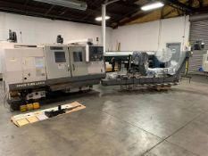 "2005 OKUMA SPACE TURN LB300 CNC TURNING CENTER WITH OPS-P100 CONTROL, 20"" SWING, 19"" MACHINING LENGT"