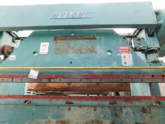 90 TON X 10' WYSONG MECHANICAL PRESS BRAKE, MODEL 90- 8, FOOT TREADLE, ONE SHOT LUBE SYSTEM, POWER
