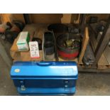 LOT - SHIM MATERIAL, STEEL WOOL AND (2) EMPTY TOOL BOXES