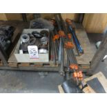 LOT - LOCATOR RINGS FOR MOLDS, BAR CLAMPS, PRY BARS