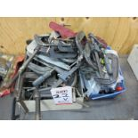 LOT - ASSORTED C CLAMPS AND CLAMPING DEVICES