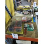 LOT - ASSORTED MAINTENANCE SUPPLIES, TO INCLUDE: SAWHORSE BRACKETS, ZIP TIES, PAINTING SUPPLIES,