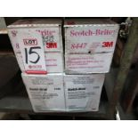 LOT - SCOTCH-BRITE PRODUCTION HAND PADS, #8447 AND #7446