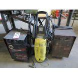 LOT - (2) BATTERY CHARGERS AND KARCHER PRESSURE WASHER