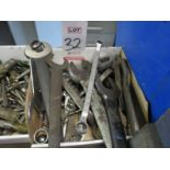 LOT - MACHINE WRENCHES, ASSORTED SIZES