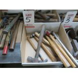 LOT - BALL PEEN HAMMERS, ASSORTED SIZES