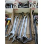 LOT - LARGE WRENCHES