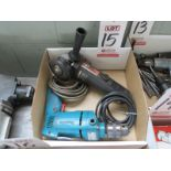 LOT - (1) MAKITA ELECTRIC DRILL AND (1) DRILLMASTER ANGLE GRINDER