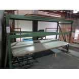 """LOT - (1) SECTION PALLET RACK, 8'-10"""" BEAMS, 66"""" UPRIGHTS"""