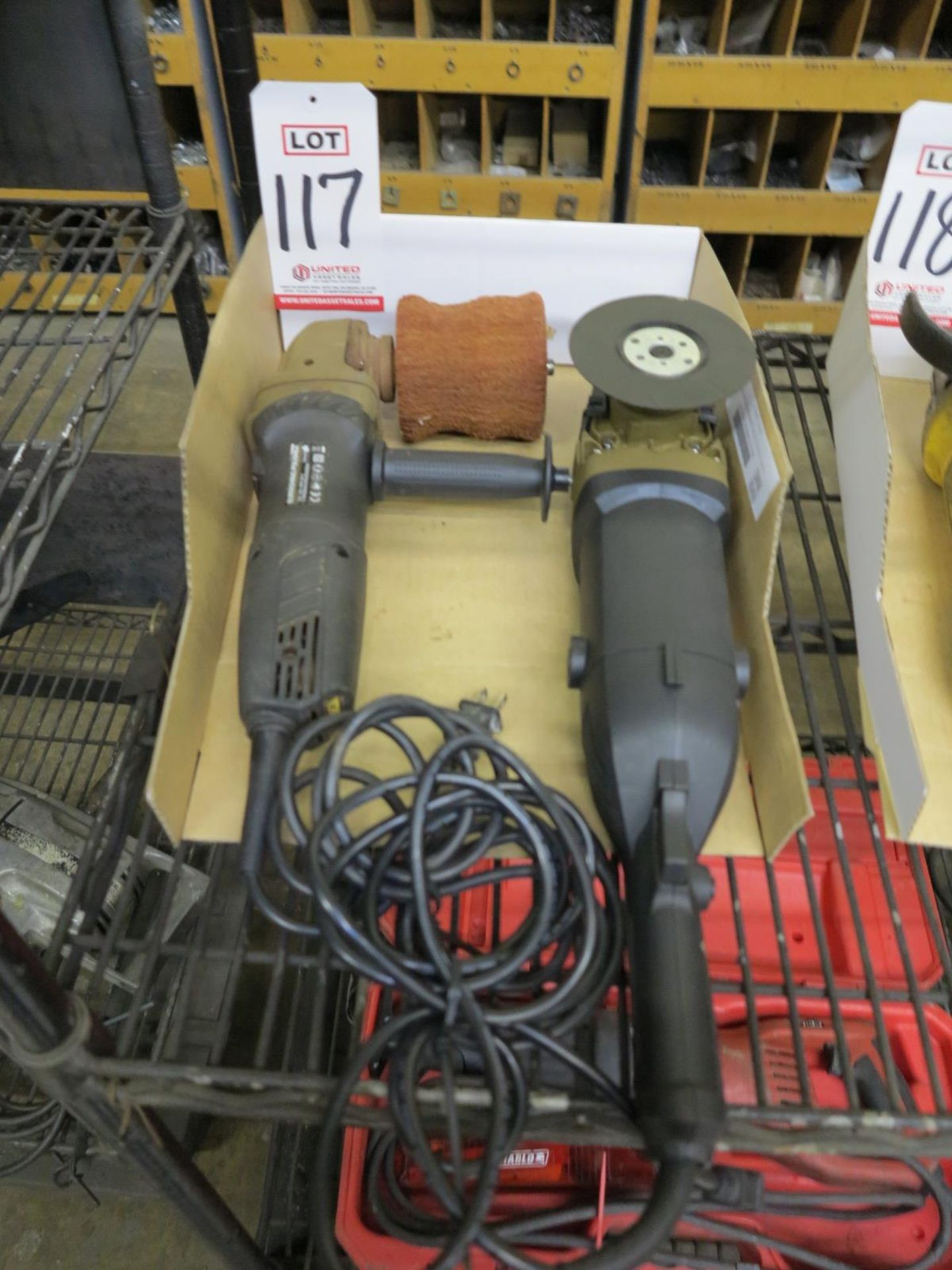 Lot 117 - LOT - (1) INTERTEK BURNISHING POLISHER AND (1) RIGHT ANGLE POLISHER