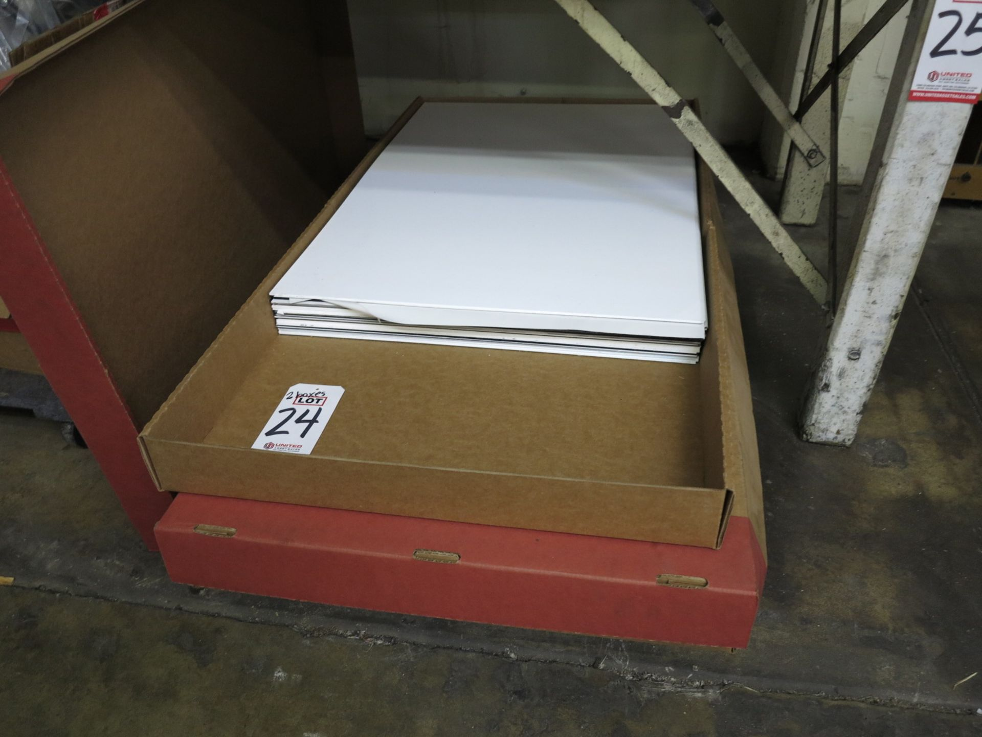 Lot 24 - LOT - (2) BOXES OF PREMIUM ENGRAVING, ADA AND ARCHITECTURAL SIGN SUBSTRATES, 2' X 3'
