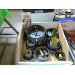 LOT - LARGE QUANTITY OF HOLE SAWS
