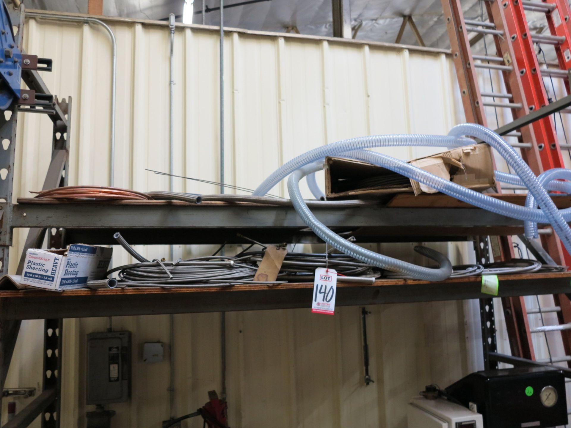LOT - MISC PLASTIC HOSE, SOFT COPPER TUBING, STEEL BRAIDED HOSE, ETC.