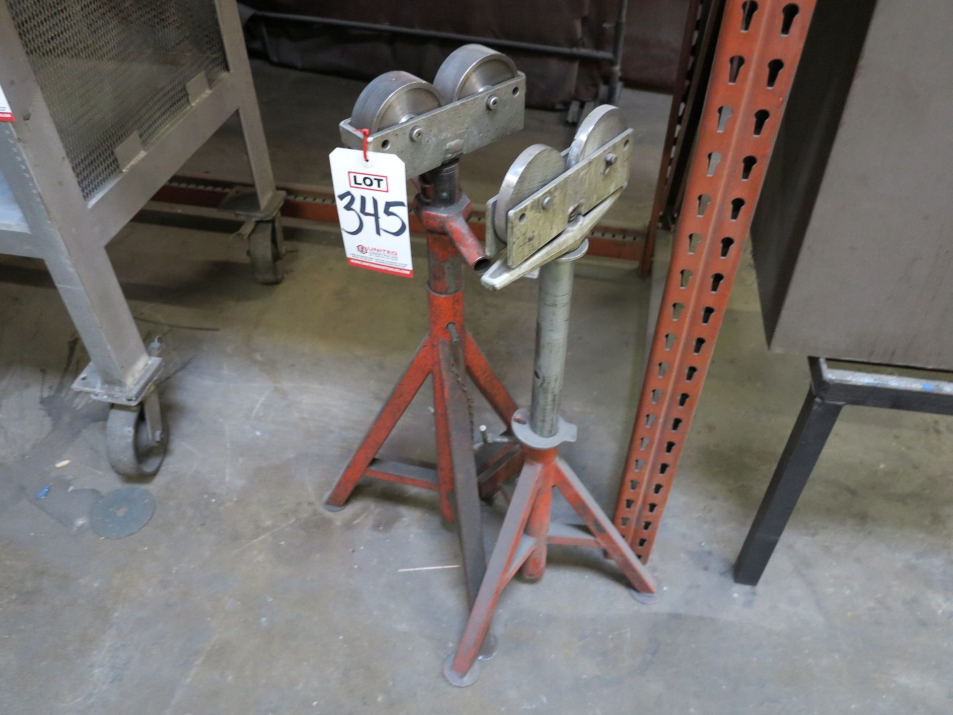 Lot 345 - LOT - (2) PIPE TURNING MATERIAL SUPPORTS