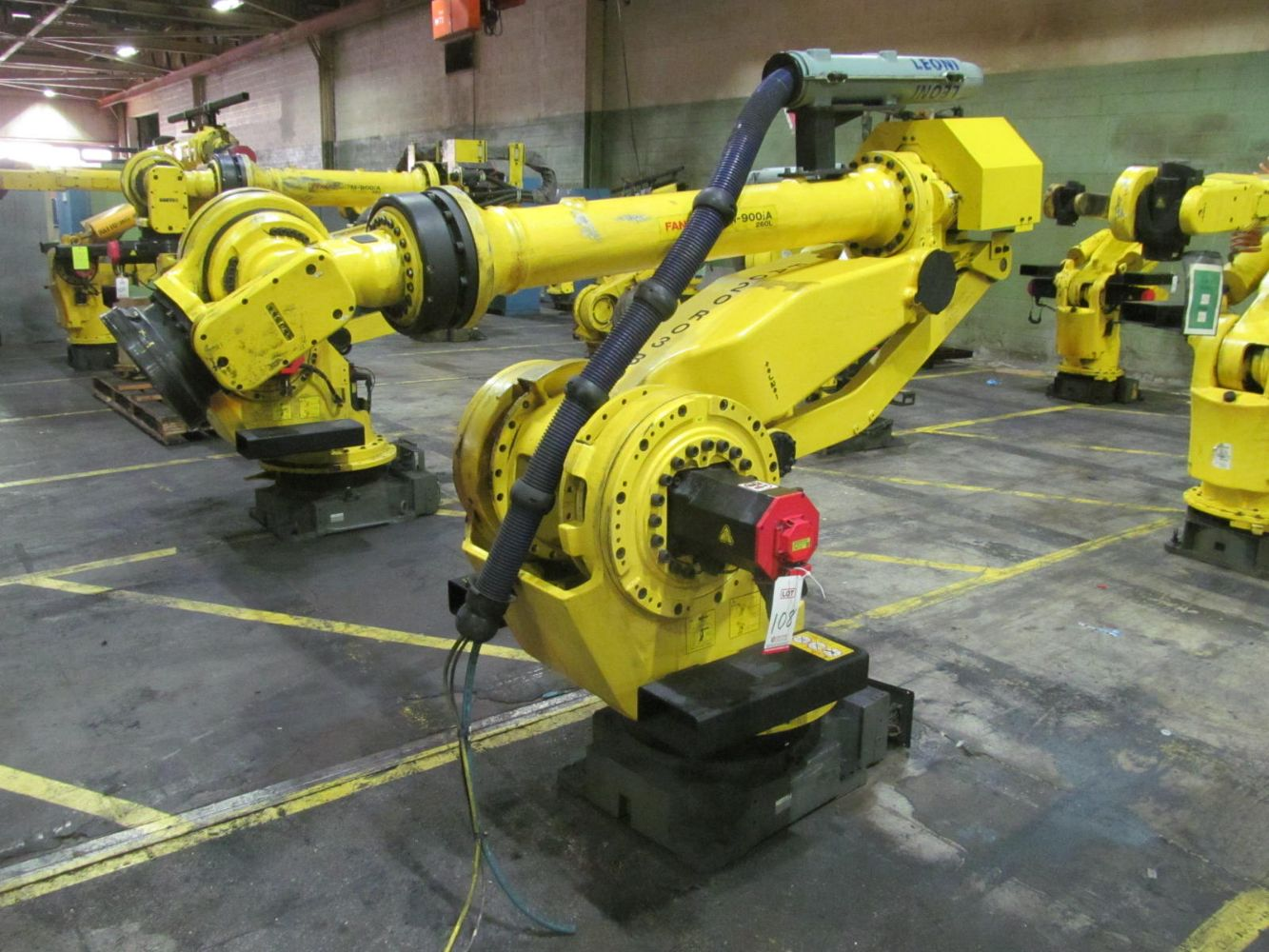LORDSTOWN MOTORS: (36) FANUC ROBOTS, GANTRY SYSTEMS, 2005 GROVE ROUGH TERRAIN CRANE, STAMPING PRESSES, FROG AGV'S, UTILITY CARTS, CABINETS