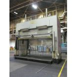 """VERSON D2-100-200-100-DS HYDRAULIC SPOTTING PRESS S/N 21991, 100 TON CAPACITY, 200"""" X 100"""" BED,"""