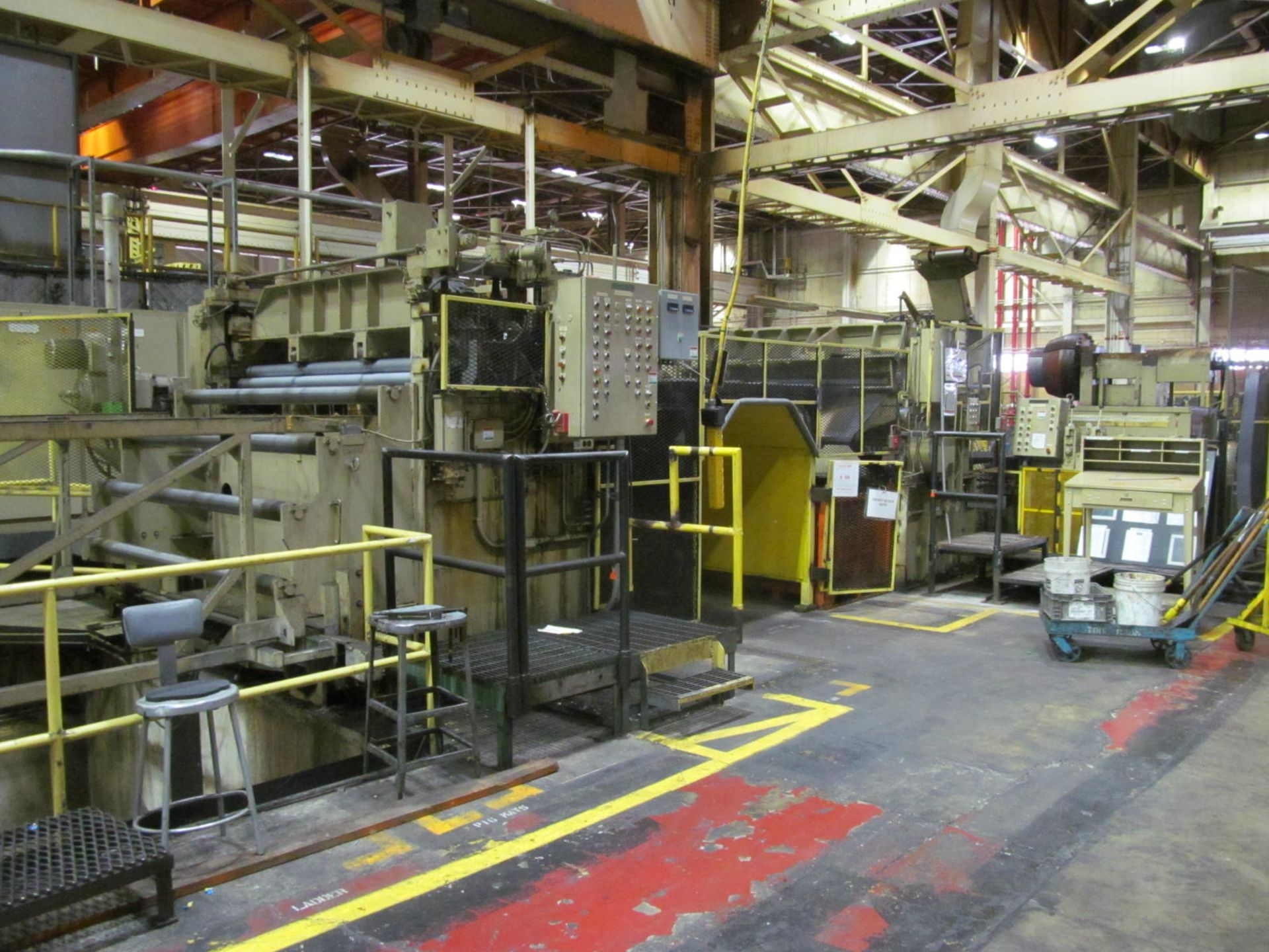 """Lot 18 - VERSON SE4-1000-108-72 STRAIGHT SIDE PRESS, S/N 24683, 1000 TON CAPACITY, 108"""" X 72"""" BED, 12"""""""