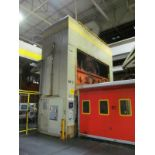 """DANLY U4-1000-180-96 STRAIGHT SIDE PRESS, S/N 642100-04, 1000 TON CAPACITY, 180"""" X 96"""" BED, 36"""""""