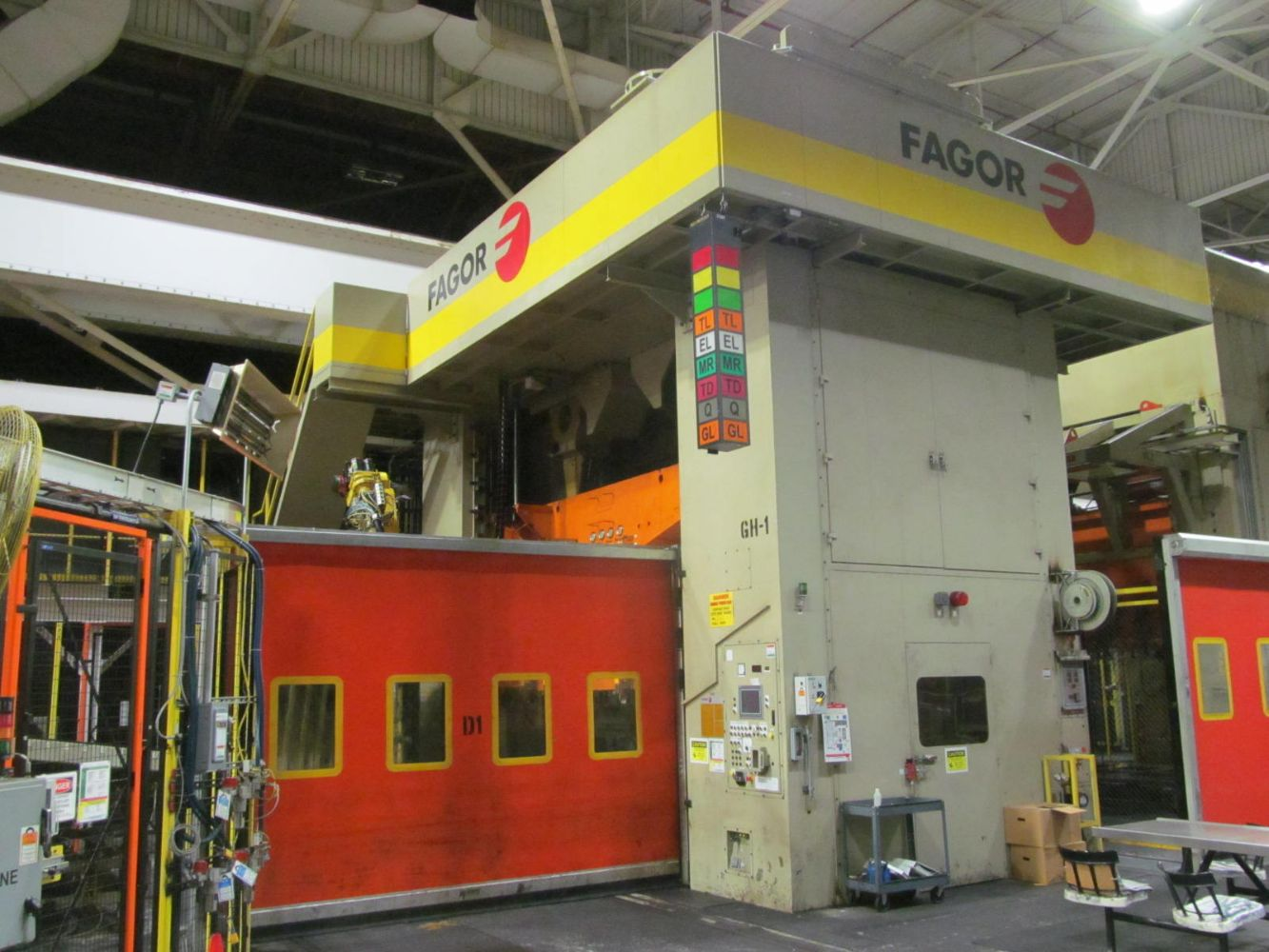 2011 FAGOR 2250 TON TANDEM PRESS LINE & DANLY 2000 TON TRANSFER PRESS, DIE CARTS, DANLY BLANKING LINE, VERSION SPOTTING PRESSES, 6 AXIS ROBOTICS